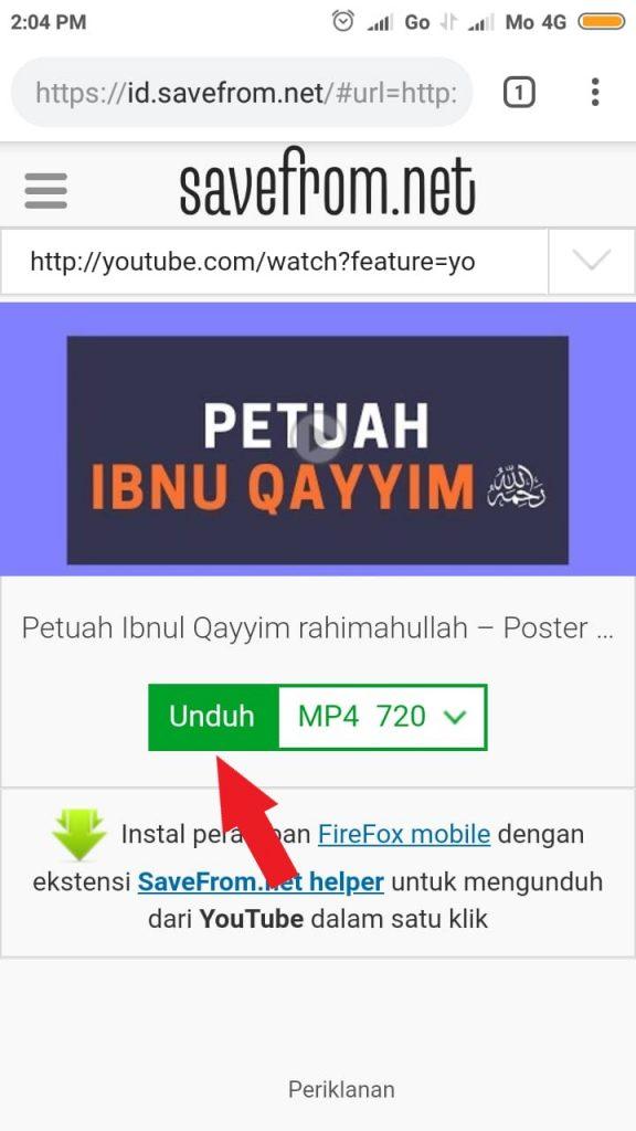 Cara Download Video Youtube di Android Tanpa Aplikasi 5
