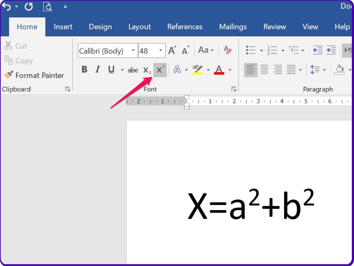 caraa membuat pangkat di ms word